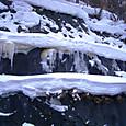定山渓の冬景色